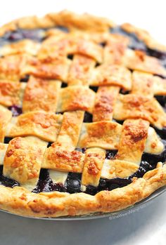 Easy Blueberry Pie especially if you use the Pillsbury ready made pie crusts. The whole house smells wonderful while it's baking.