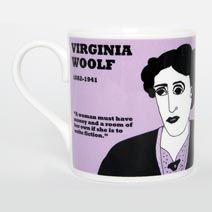 Virginia Woolf mug on British Library