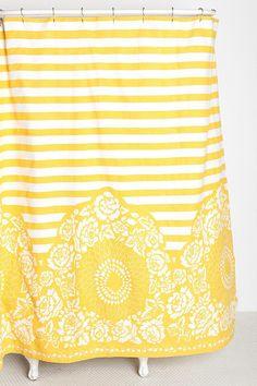 Plum & Bow Rose Stripe Shower Curtain #urbanoutfitters