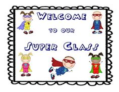 Back to School: Superhero themed bulletin board