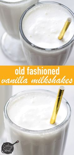 Easy Vanilla Milkshakes Ingredients) - Cooking For My Soul Easy Vanilla Milkshake Recipe! Only three ingredients, vanilla ice cream, milk, and vanilla extract. Milk Shakes, Homemade Milkshake, Vanilla Milkshake Recipe With Ice Cream, Easy Milkshake Recipe, Apple Smoothies, Homemade Vanilla, Homemade Recipe, Homemade Chocolate, Pumpkin Spice Cupcakes