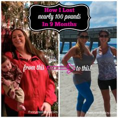 My Weight Loss Journey - How I lost nearly 100 pounds in 9 months! Transformation Tuesday, Weight Loss Inspiration, Fitspo, Fit Mom