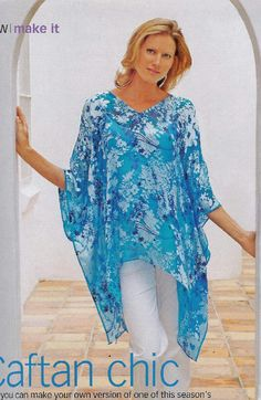 Easy Caftan Pattern this is pic of pattern with Russian instructions Sewing Patterns Free, Free Sewing, Clothing Patterns, Diy Clothing, Sewing Clothes, Dw Shop, Kaftan Pattern, Estilo Hippie, Diy Tops