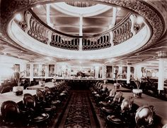 The 1st class dining saloon on the Empress of Ireland