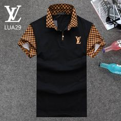 Louis Vuitton POLO shirts men-LV61826A