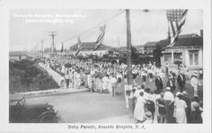 Black and White Real Photo Postcard (RPPC) of a Baby Parade in Seaside Heights 1920s Email this card to a friend! Seaside Heights Postcards for sale