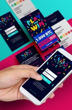 Branding for first international lottery based on blockchain technology.