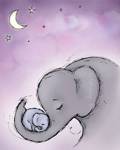 Sweet, loving mother and moon