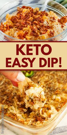 This cheesy, creamy Keto Jalapeño Popper Dip is the keto dip you've been waiting for! It's so rich and makes for an amazing keto party dip. Easy Cake Recipes, Dip Recipes, Appetizer Recipes, Low Carb Recipes, Cooking Recipes, Keto Recipes With Bacon, Recipies, Dessert Recipes, Casserole Recipes