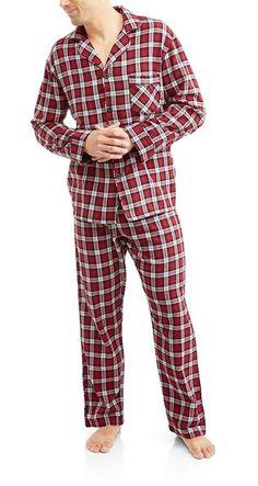 Plaid 0140 S Hanes Flannel Pajamas Set Small
