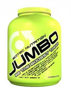 Scitec Nutrition Jumbo Aún puedes ser más grande con JUMBO ¡50 gramos de proteína por dosis! ¡JUMBO-SIZE matriz anabólico! ¡Fuente ultracompleja de carbohidratos, con copos de avena, Vitargo® y Palatinose™! ¡No contiene ningún tipo de edulcorante! ¡El envase de saco se puede volver a cerrar para la máxima comodidad!