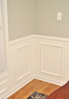 Hooray! The wainscoting project is done! It's been a long process for sure, but I think the finished product looks great. As a reminder,...