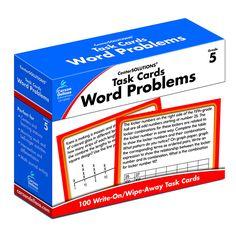 TASK CARDS WORD PROBLEMS GR 5