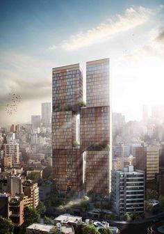 Ciel et Jardin Tower by Domaine Public Architects, via Behance