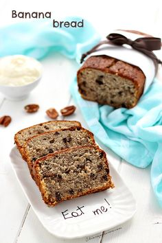 Banana bread ricetta originale - Dolce con banane Un Cake, Cake & Co, Cake Cookies, Cupcake Cakes, Yummy Food, Tasty, Delicious Recipes, Bread And Pastries, Something Sweet