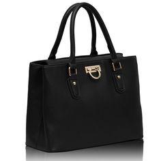 Black Grab Michael Kors Hamilton, Handbags, Black, Women, Fashion, Totes, Moda, Black People, Women's