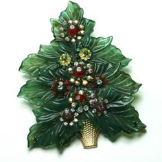 Spectacular Hagler Like Haskell Early Large Christmas Tree Pin Very RARE in Book