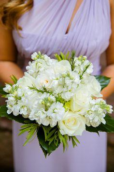 Lavender Bridesmaid Dress & White Bouquet| Elegant Lavender Wedding at The Society Room| Photographer: Candace Jeffery Photography