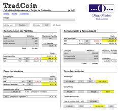 Calculador de honorarios y tarifas de traducción.