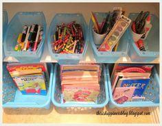 Kids' Craft Organization