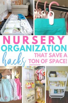 Nursery Organizing Hacks Nursery Organization hacks that save a ton of space. Perfect read for the nesting mama who needs to get baby's room ready! Great organizing solution for baby's room! Organisation Hacks, Organizing Hacks, Organizing Baby Clothes, Organizing Baby Dresser, Get Baby, Need For Baby, Things Needed For Baby, Diy For Babies, Baby Stuff Must Have