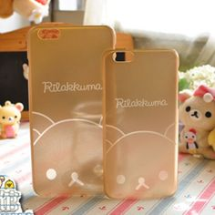 Gold rilakkuma iphone case (5/5s/6/6-plus)