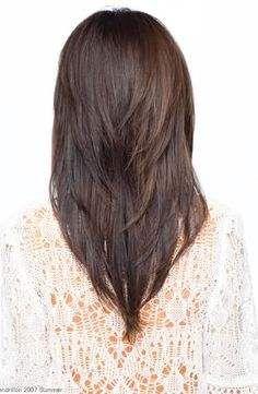 V cut, doing this but maybe a little longer because I don't think I could go this short..