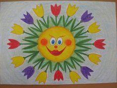 Jarní sluníčko Spring Activities, Preschool Activities, Diy And Crafts, Crafts For Kids, Mosaic Stepping Stones, Paper Embroidery, Spring Art, 3d Paper, Doodle Drawings