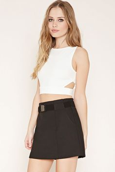 Side Cutout Crop Top | Forever 21 - 2000177938