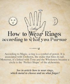 How to Wear Rings See in article how to wear rings according to what you pursue, which metal to choose and on what finger! to Wear Rings See in article how to wear rings according to what you pursue, which metal to choose and on what finger!See in article Magick Spells, Blood Magic Spells, Real Magic Spells, White Magic Spells, Hoodoo Spells, Moon Spells, Green Witchcraft, Healing Spells, Healing Quotes