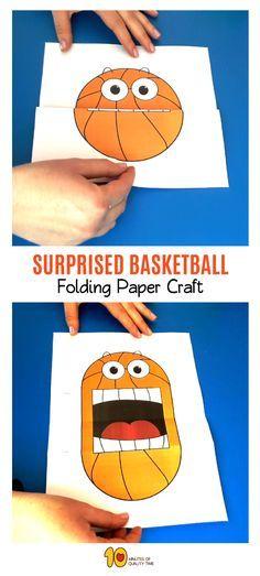 Super Ideas Basket Ball Art Preschool For Kids Fun Crafts, Crafts For Kids, Arts And Crafts, Paper Crafts, Basketball Crafts, Basketball Cupcakes, Basketball Room, Logo Basketball, Basketball Posters
