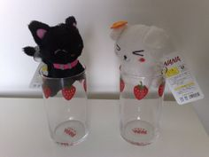 nana & hachi cane gatto bicchieri fragole ai yazawa strawberry glasses by ranma_saotome_87, via Flickr