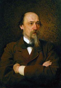 Portrait of the poet Nikolai Nekrasov, 1877 by Ivan Kramskoy. Realism. portrait