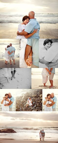Ageless, romantic, and beautiful beach couple photo session idea. Perfect for weddings, engagement, or for a special anniversary. :)