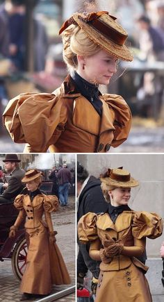 "Today, it& cinema I& going to talk about, with a little criticism ""costumes"" from Guillermo Del Toro& Crimson Peak movie, with Mia … - Steampunk Mode, Steampunk Costume, Victorian Steampunk, Steampunk Fashion, Steampunk Dress, Victorian Era, Gothic Fashion, 1890s Fashion, Edwardian Fashion"