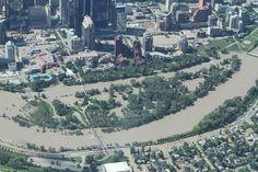 Floods in downtown Calgary, Canada, June 2013 Posetd by floodlist.com