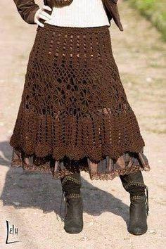 Resultado de imagem para crochet skirt pattern free