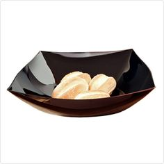 Black 12 oz Plastic Catering Square Bowls/Case of 120