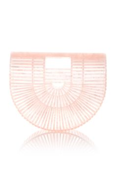 Small Acrylic Ark Bag by Cult Gaia in Pale Pink