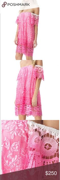 Sky dress hot pink So pretty! Worn once. Fully lined. sky Dresses