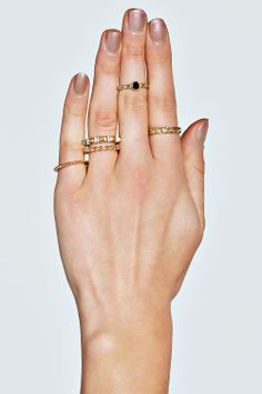 Lily Multi Pack Gem Ring Stack at boohoo.com