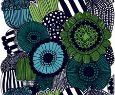 marimekko. Idea: use those chipped plates like this design for outdoor wall art.