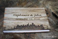 San Francisco Cityscape Wedding Guest book