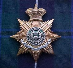The Royal Scots (The Royal Regiment) Officer's Helmet plate QVC in silver & Gilt.  In service from 1881 up until 1902.