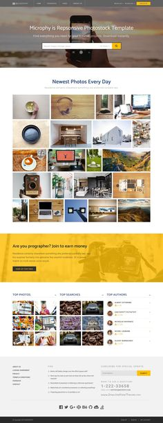 MICROPHY is a modern and trendy #design Bootstrap HTML #template for Stock #Photo or Photo sharing website with 5 creative layouts download now➯ https://themeforest.net/item/microphy-html-responsive-template-for-stock-photo/16934391?ref=Datasata