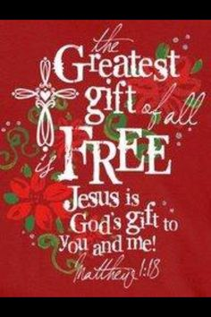 And what a Glorious gift HE is!