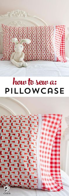 Learn a quick and easy way to sew a pillowcase on http://polkadotchair.com