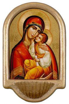 Byzantine Madonna Holy Water Font Click picture to see on #catholictothemax