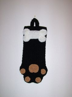 Adorable Black Dog Paw Treat /Goodie Bag/ by MissyOodlesCreations, $12.00