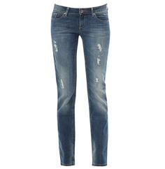 7/8 Stretch Used-Jeans von edc by Esprit